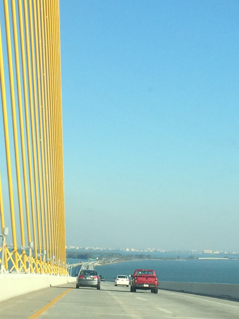 The Sunshine Skyway Bridge on the way to Safety Harbor!